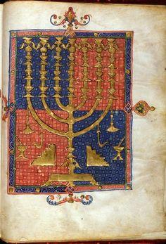 Menorah from BL Add 15250, f. 3v