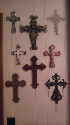 My wall of crosses!