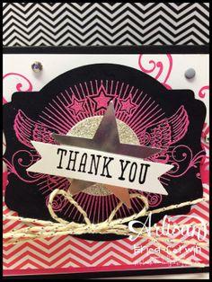 Pink Buckaroo Designs- Thank you card