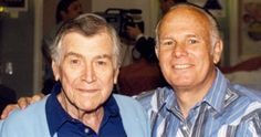Actor turned screenwriter Warren Douglas and former child actor Gary Gray at a Hollywood Collector's show. Douglas wrote many of the best Warner Bros. TV westerns.