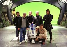 Cast shot on Revenge of the SIth Set