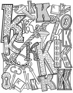 Alphascapes: K by Dover Publications