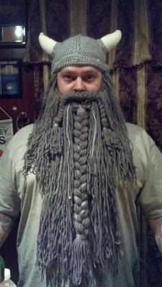 Made to Order Crochet Viking Hat and Beard by LoopyYarnDesigns, $65.00