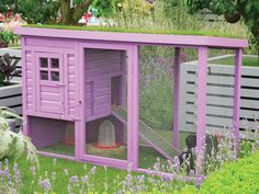 Chicken or Rabbit Hutch - Charming Outdoor Storage and Structures on HGTV..... This would also be fun for a kitty playground.