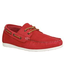 Ask the Missus Draft Boat Lace Up Red Nubuck - Casual