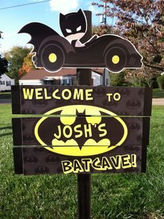 Superhero Batman Yard Sign by MinisPartySigns on Etsy