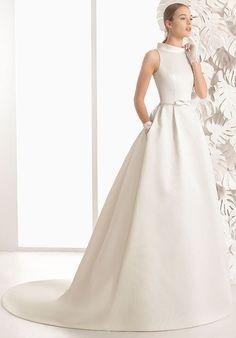 Beautifully elegant, sensual and sophisticated wedding dresses created by designer Rosa Clará. Rosa Clara Wedding Dresses, Wedding Dress Suit, Cheap Wedding Dress, Bridal Dresses, One Shoulder Wedding Dress, Wedding Gowns, Bridesmaid Dresses, Tulle Wedding, Brocade Dresses