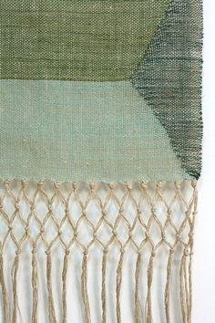hand-woven linen wall hanging  via: rdtextiles: