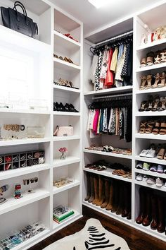 Bon This Beautiful Custom Walk In Closet Features White Built In Shelves Fixed  Framing A