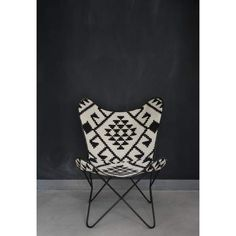 Fauteuil Butterfly - black and white