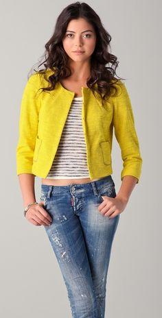 happy jacket. happy girl.