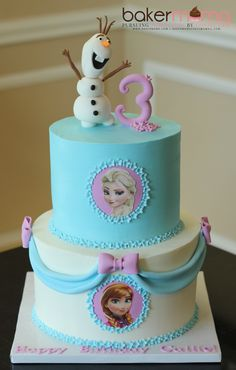 Visit the post for more. Frozen Party Cake, Frozen Themed Birthday Cake, 3rd Birthday Cakes, Themed Cakes, Party Cakes, Beauty And Beast Cake, Pastel Frozen, Paw Patrol Cake, Girl Cakes