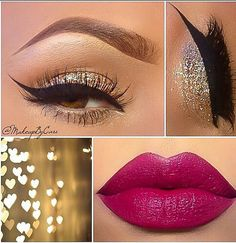 Gold and hot pink- a dazzling combination