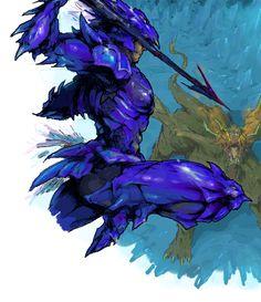 ジャンプ by 楽田. Kain from Final Fantasy IV