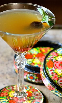 Bourbon & Basil Sidecar Cocktail 2 ounces bourbon 1 ounce Cointreau 3 or 4 basil mint leaves (or 2 basil and 2 mint leaves) 3/4 ounce freshly squeezed lime or lemon juice 1/2 ounce simple syrup liquored-up cherry or two