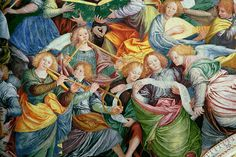 renaissance angel paintings | ... Concert of Angels 1534 36 Painting by Gaudenzio Ferrari | Oil Painting