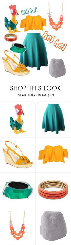 """""""Hei Hei -Moana"""" by kathrynrose42 ❤ liked on Polyvore featuring Disney, Anne Klein, Boohoo, Alexis Bittar, Design Lab, Kim Rogers and Improvements"""