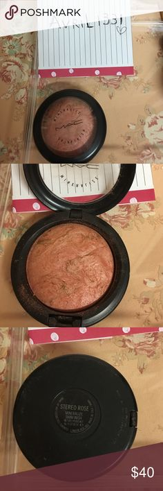 Mac Stereo Rose Mineralize Blush Discontinued!!! YouTuber's favorite 💜 MAC Cosmetics Makeup Blush