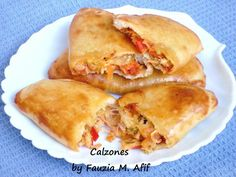 Calzones. A calzone is basically a turnover or folded pizza. It contains the same ingredients as a normal pizza, but because it is folded-over, this pizza-version is neater and easier to pack and carry with you on a picnic or for your lunch at school/work.