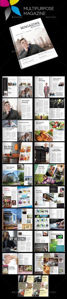 Multipurpose Magazine Template #design Download: http://graphicriver.net/item/multipurpose-magazine/11943467?ref=ksioks