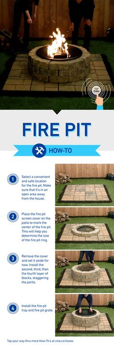 Build this DIY fire pit and then tap your way thru more how-tos at www.vine.co/lowes