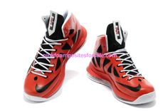 Lebron James 10 Lebrons Varsity Red Black White Medal  Red  Womens  Sneakers  Discount 4143482efbf2