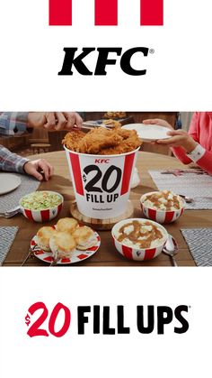 Get a $20 Fill Up! Order ahead at KFC.com, swing by any drive-thru, or enjoy free, contactless delivery. Terms apply.
