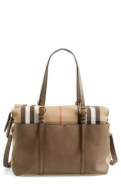 Free shipping and returns on Burberry Classic Check & Leather Diaper Bag at Nordstrom.com. Beautifully grained leather and signature checks define a statement-making diaper tote crafted with plenty of interior and exterior pockets so you and your little darling can stay organized on the go.