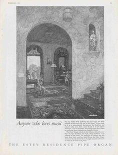 Franklin Booth - Estey Ads Organ