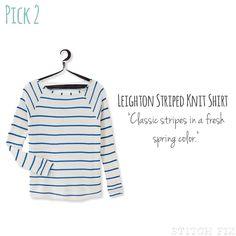 Leighton Striped Knit Shirt