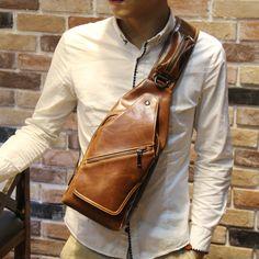New Fashion Brand Men s Messenger Bags Retro Chest Pack Cross Body Chest Bag  Small Casual Travel Shoulder Bag Mini Phone Bag. Ropa de los hombres 948320cf9c5b2