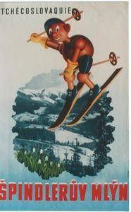 vintage ski poster - CZECH SKI SPINDLERUV MLYN c.1940. O.Repa