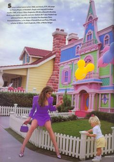 80s90sredux:  Disneyland Editorial from.Vogue UK March 1991 feat Meghan Douglas and Unknown model