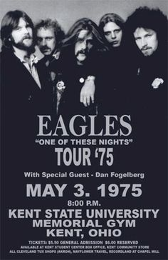 THE EAGLES.second highest earning touring band of The Eagles Concert Poster /FromTheWaybackMachine Rock And Roll, Pop Rock, Eagles Band, The Eagles, Eagles Music, Rock Posters, Band Posters, Music Posters, Festival Posters
