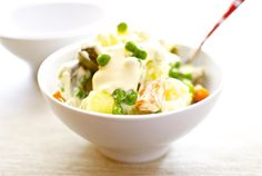 Russian salad with artichokes