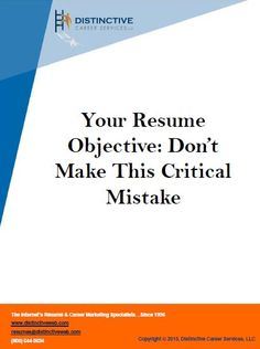 A job resume reflects you as a person so it is but fitting to put all your heart into it and not take it lightly. Your resume should have something that represents what you're looking for and what employers are looking for. Make sure to include a resume objective that makes everyone happy.