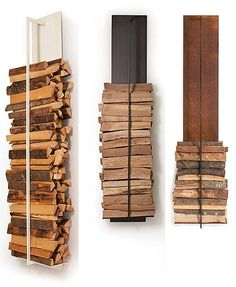 These indoor firewood storage ideas will help you pick the perfect rack for your firewood, keeping your home beautiful without leaving you broke. Wood Holder For Fireplace, Diy Fireplace, Fireplaces, Outdoor Firewood Rack, Firewood Storage, Wood Projects For Kids, Kids Wood, Wood Wall Shelf, Wooden Shelves