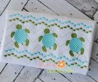 Sea Turtle Faux Smock 4x4, 7x3, 7x5