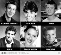 The Young Avengers: note how chris hemsworth was always attractive...