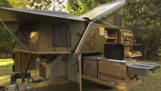 The from Conqueror Australia is made to go where most camper trailers wouldn't dare. This camper is perfect for luxury living in harsh environments. Bug Out Trailer, Trailer Tent, Off Road Camper Trailer, Camper Trailers, Trailer Diy, Bus Camper, Trailer Remodel, Travel Trailers, Off Road Camping