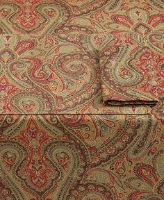 ralph lauren bedding paisley red - Google Search | Lauren Ralph Lauren Table…
