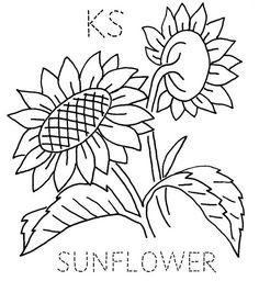 Kansas Sunflower embroidery