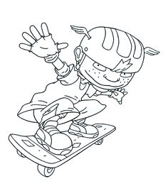 Rocket Power Happy | Rocket Power Coloring Pages | Pinterest ...