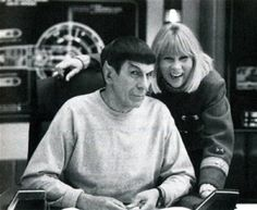 FB Star Trek; Leonard Nimoy and Grace Lee Whitney (Yeoman Rand).  Whitney past away on 5/3/15