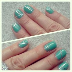 #meeromani striping tape mani with Funky Fingers Partly Cloudy solar nail polish