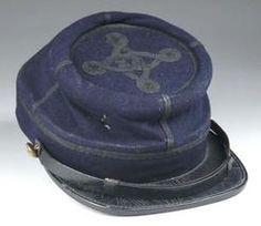 Head Gear; Kepi, Civil War Era, Union Jr Officer, Quatrefoil Braid.