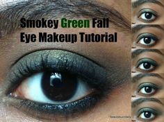 Step by Step tutorial on how to get a Smokey Green Fall Eye Look
