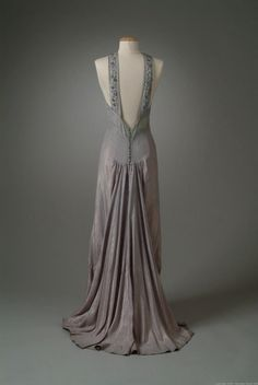 Milgrim evening dress ca. 1936 via The Meadow Brook Hall Historic Costume Collection