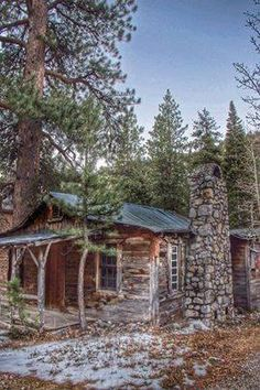 Melts into the landscape:) MY OWN LITTLE CABIN IN THE WOODS.....THIS WOULD BE MINE.....NESTLED! Off the grid!