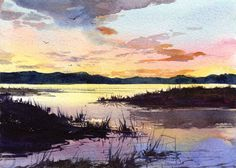 "A New Day's Dawning - ORIGINAL WATERCOLOR - Painting by Linda Henry - Miniature Watercolor - 5""x7"" - Ready to Frame - Free Mat (#107)"
